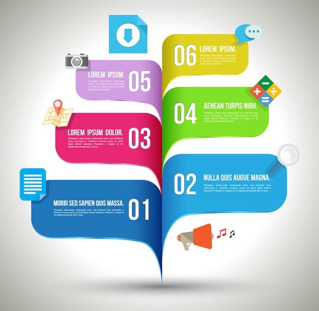 Modello di infografica concetto aziendale