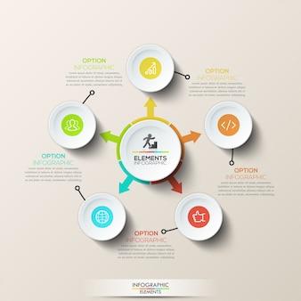Modello di infografica creativo