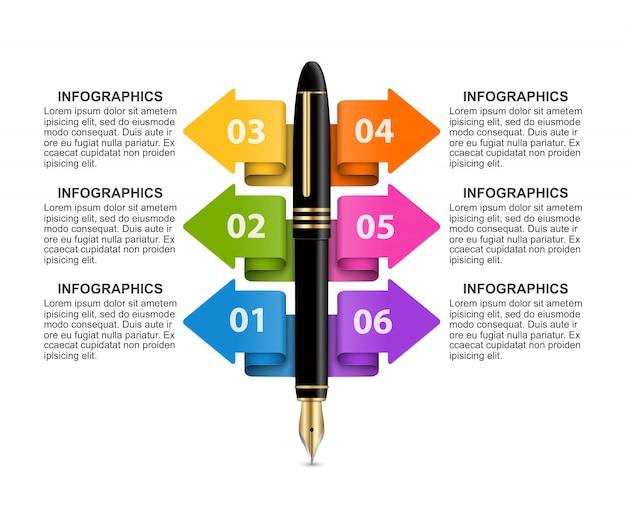 Modello di infografica di affari.