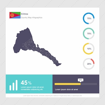 Modello di infografica di eritrea map & flag