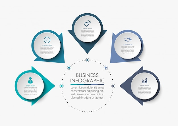 Modello di infografica di presentazione aziendale