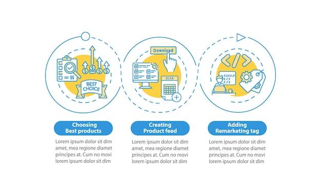 Modello di infografica di promozione e vendita di prodotti