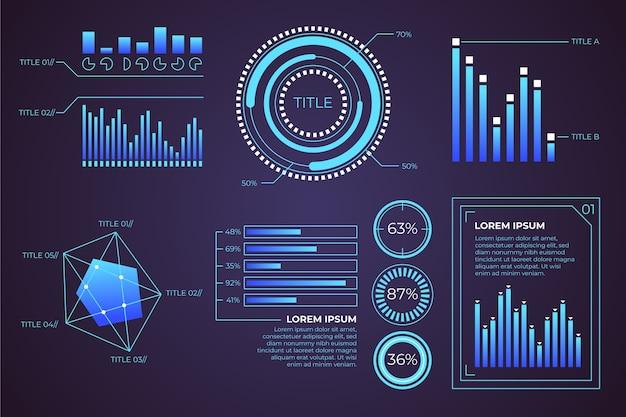 Modello di infografica futuristico