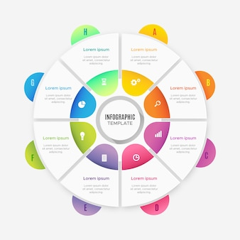 Modello di infografica gradiente
