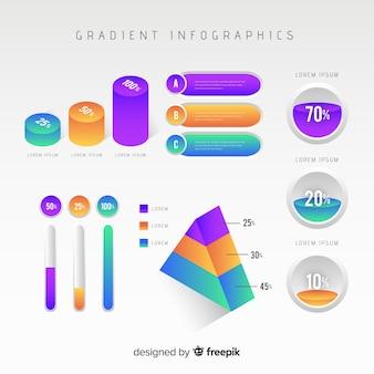 Modello di infografica in stile sfumato