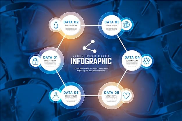 Modello di infografica medica professionale