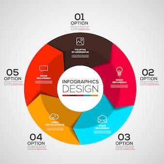 Modello di infografica minimal moderno
