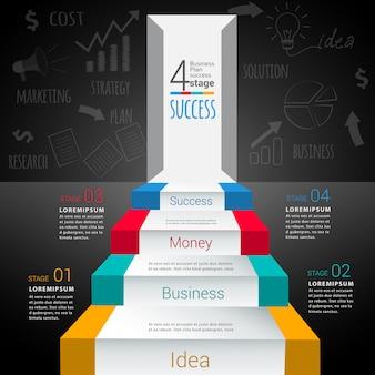 Modello di infografica moderna astratta