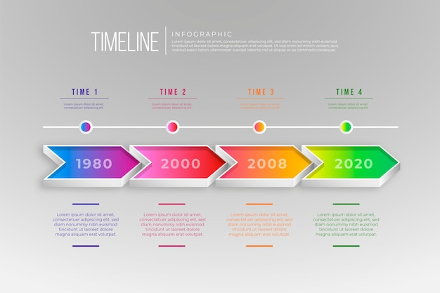 Modello di infografica moderna timeline