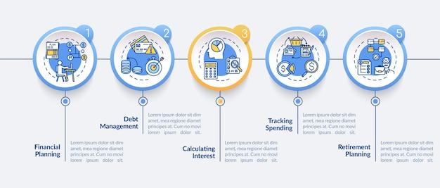 Modello di infografica obiettivi di alfabetizzazione finanziaria