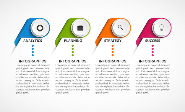Modello di infografica opzioni astratte.