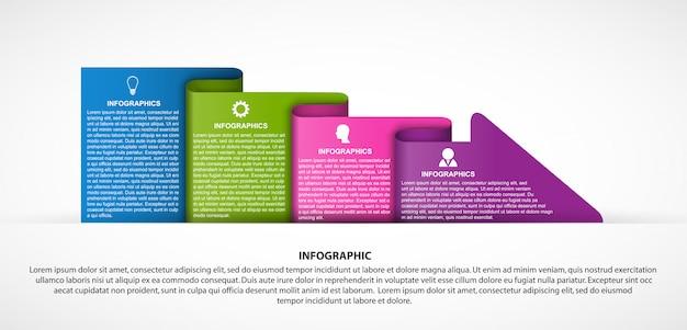 Modello di infografica opzioni di business