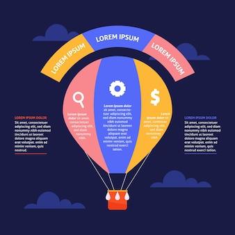 Modello di infografica palloncino