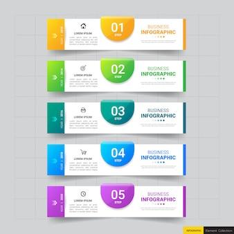 Modello di infografica passo