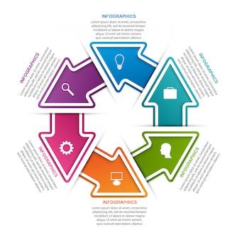 Modello di infografica per informazioni