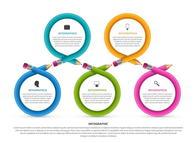 Modello di infografica per l'educazione.
