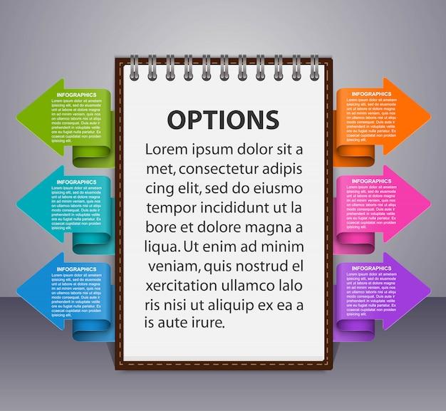 Modello di infografica per presentazioni aziendali o banner informativo.