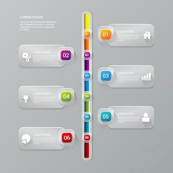 Modello di infografica processo timeline