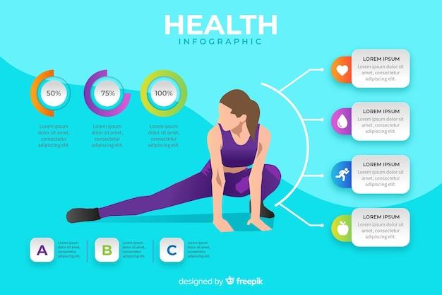 Modello di infografica salute design piatto