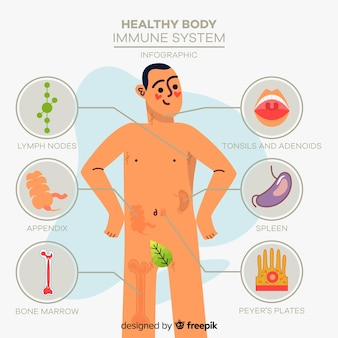 Modello di infografica salute disegnata a mano