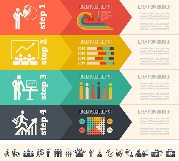 Modello di infografica social media.