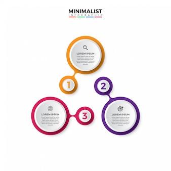 Modello di infografica stile semplice e minimalista.