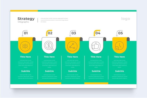 Modello di infografica strategia aziendale