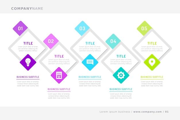 Modello di infografica timeline