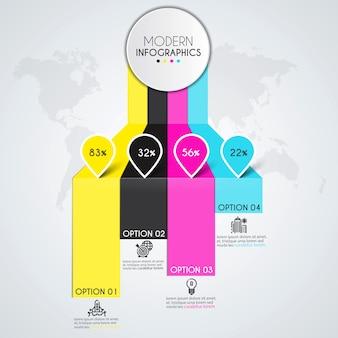 Modello di infografica