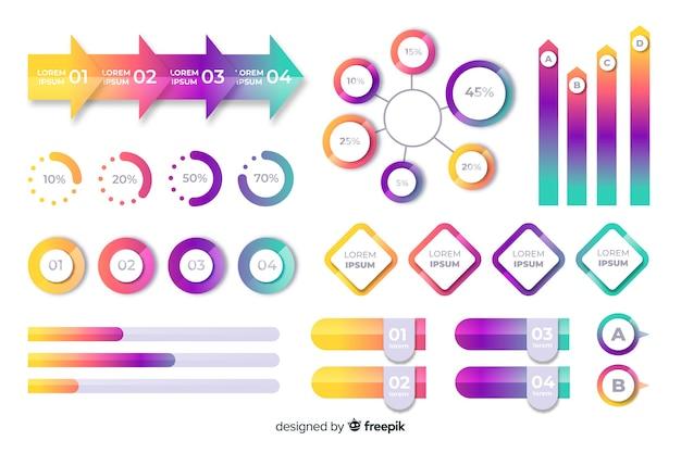 Modello di infographic di affari gradiente