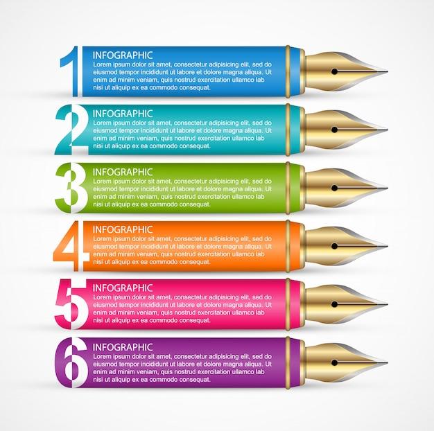 Modello di infographics di affari per presentazioni.