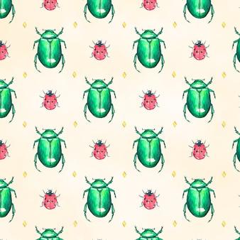 Modello di insetti acquerello