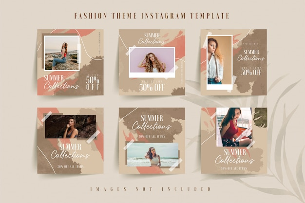 Modello di instagram per business online di moda donna
