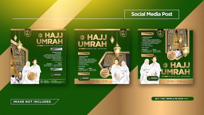 Modello di Instagram Post per la promozione Hajj e Umrah