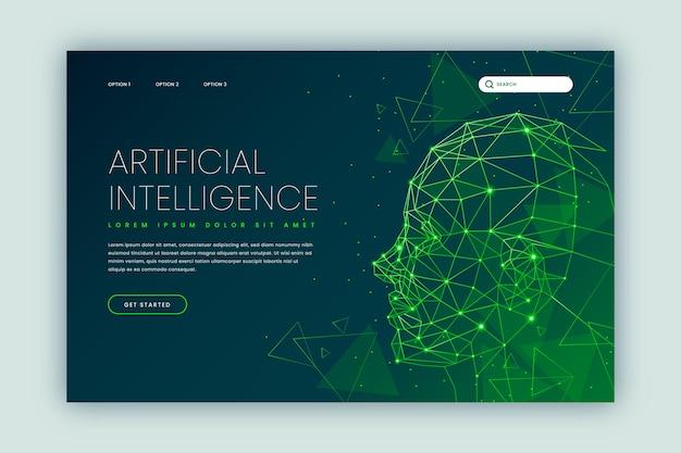 Modello di intelligenza artificiale della pagina di destinazione