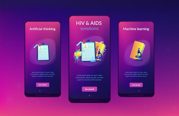 Modello di interfaccia app aids.