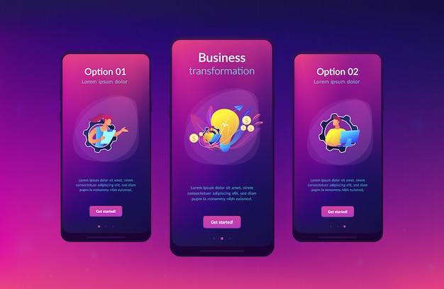 Modello di interfaccia app di analisi delle tendenze di business