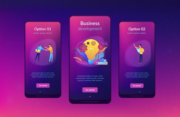 Modello di interfaccia app idea business