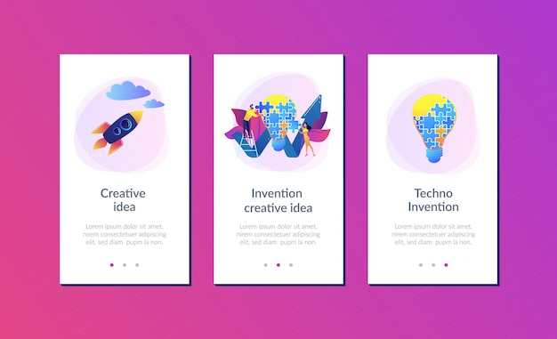Modello di interfaccia app idea creativa