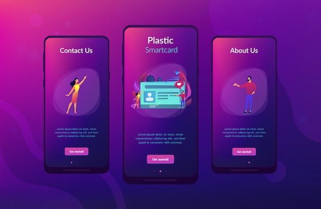 Modello di interfaccia app per smart card.