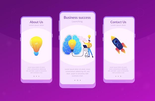 Modello di interfaccia dell'app brainstorm.