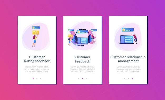 Modello di interfaccia dell'app di feedback dei clienti