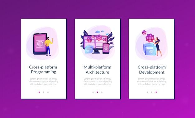 Modello di interfaccia dell'app di programmazione multipiattaforma.
