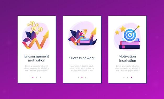 Modello di interfaccia dell'app motivazione