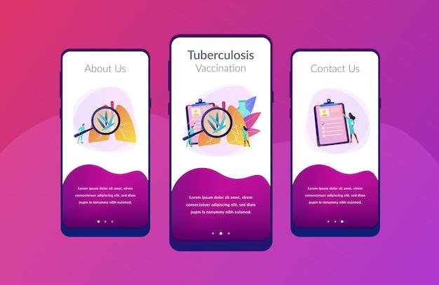Modello di interfaccia dell'app per la tubercolosi.