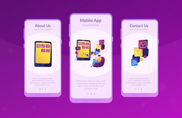 Modello di interfaccia dell'app per lo sviluppo di applicazioni mobili