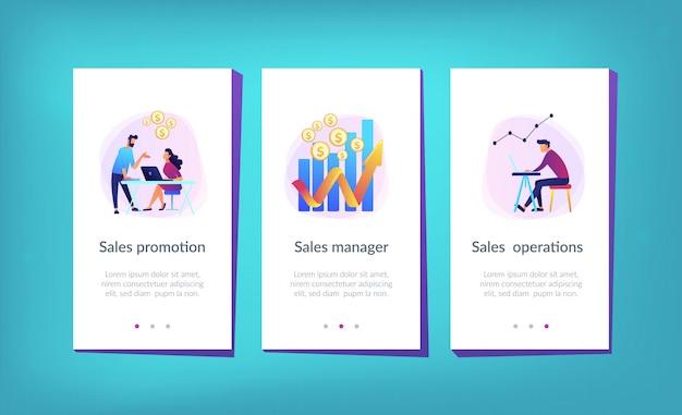 Modello di interfaccia per app di crescita delle vendite