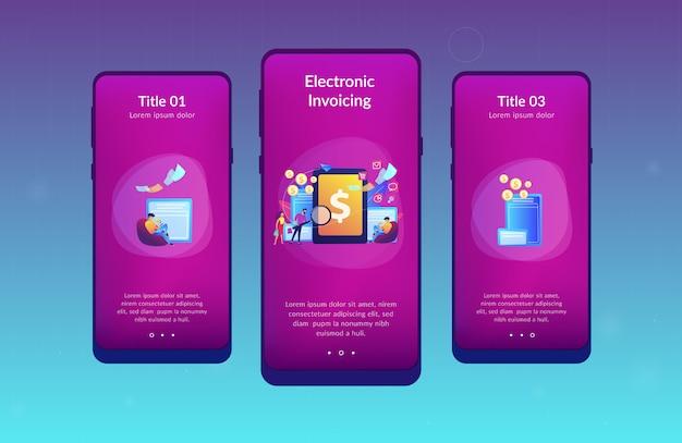 Modello di interfaccia per app di fatturazione elettronica