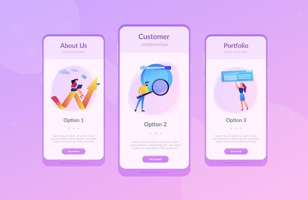 Modello di interfaccia per app di marketing digitale
