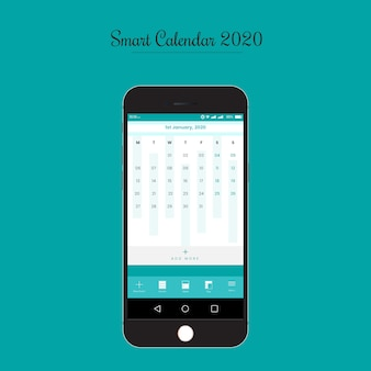 Modello di interfaccia utente dell'app smart calendar